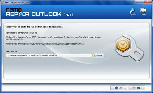 PST Repair Tool Outlook - Select Damage PST File